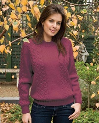PT8205 - Ladies Cabled Jumper - 8 Ply
