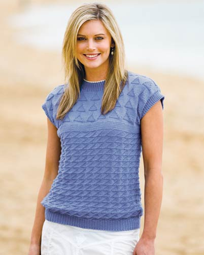 PT8210 - Sleeveless Triangle Pattern Top - 8 Ply Cotton