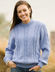 PT8214 - Noughts and Crosses Cabled Jumper - 8 Ply