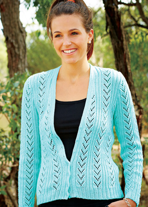 PT8221 - Lace Cardigan - 4 Ply Cotton