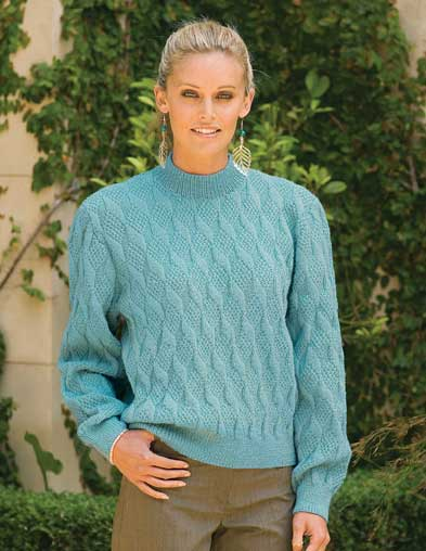 PT8234 - Diamond Patterned Jumper - 5 Ply