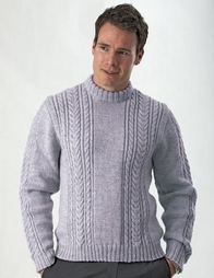 PT8242 - Men's Cabled Jumper - 8 Ply