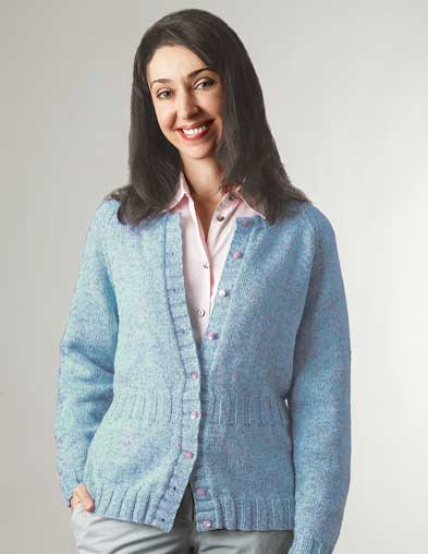PT8246 - Cardigan with Optional Rib Waist - 8 Ply