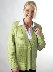 PT8249 - Check Stitch Jacket - 8 Ply