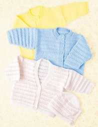 PT8267 - Babies Cardigan's and Bonnets - 4 Ply