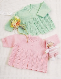 PT8270 - Babies Lace Jacket - 4 Ply