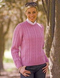 PT8280 - Patterned Round-Neck Jumper - 8 Ply