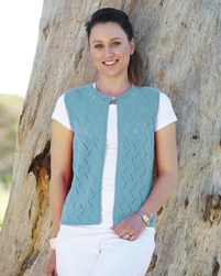 PT8308 - Lacey Open Vest - 8 Ply Cotton