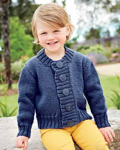 PT8354 - Kid's Basic Cardigan - 10 Ply
