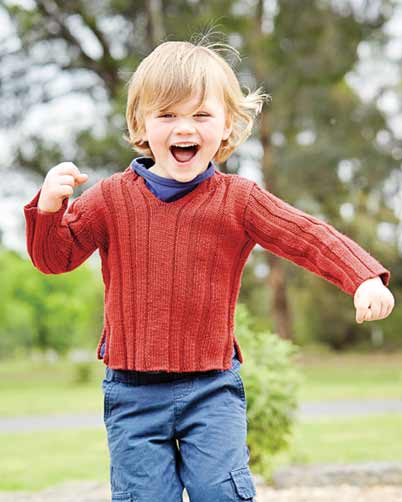 PT8355 - Kids Jumper or Vest Pattern - 8 Ply