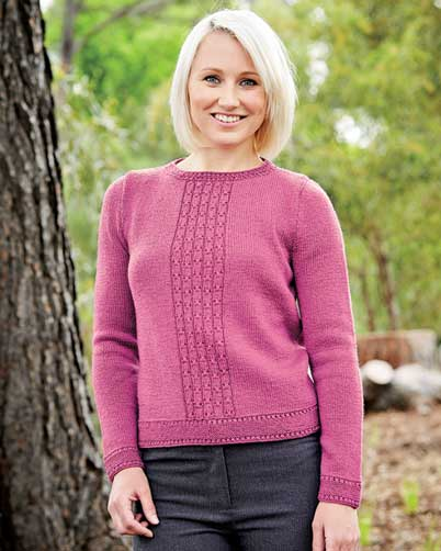 PT8360 - Ladies Jumper with Front Lace Panel - 5 Ply