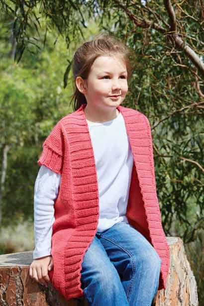 PT8386 - Girls Long Line Vest in 10 Ply