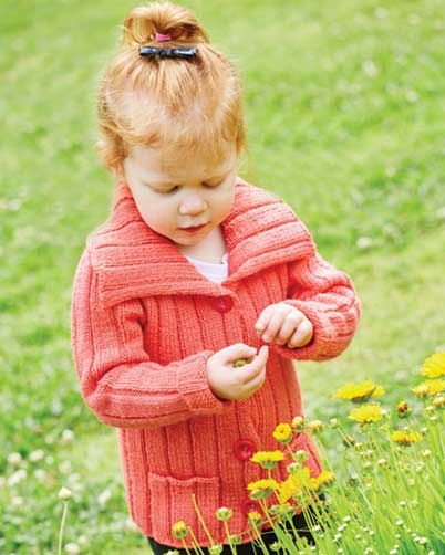 PT8387 - Kids Cardigan in 8 Ply