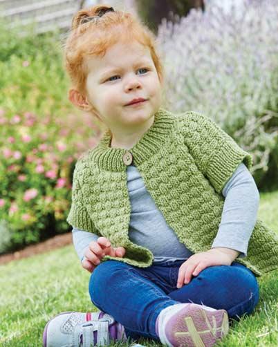 PT8388 - Kids Basketweave Vest in 10 Ply