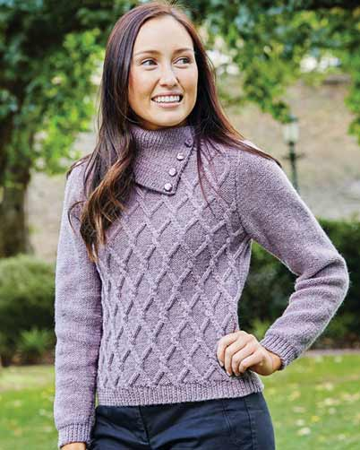 PT8407 - Ladies Cabled Jumper