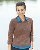 PT8330 - Jumper with cable waist and 2/3 sleeves - 8 Ply