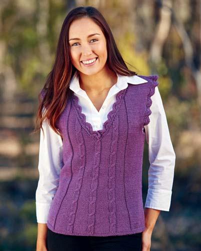 PT8409 - Cabled Vest