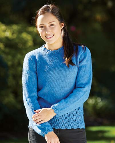 PT8412 - Ladies Jumper with Flower Buds Pattern
