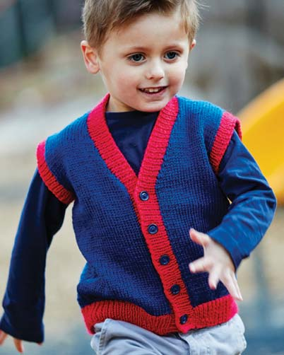 PT8414 - Kids Vest in 8 Ply