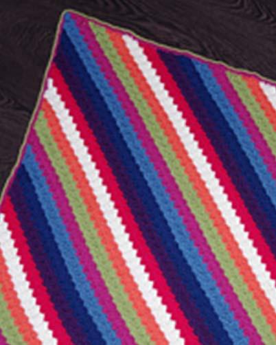 PT8415 - 8 Ply Corner to Corner Crochet Blanket
