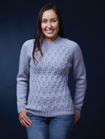 PT8449 - Cable & Moss stitch Jumper with Raglan Sleeves - 8 Ply