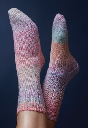 PT8454 - Lace Panel Socks - 4 Ply